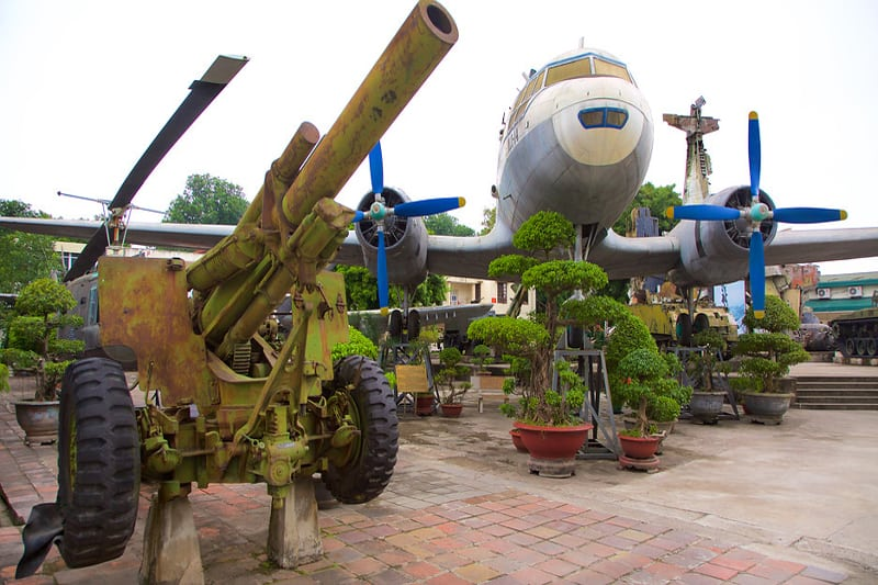 Museum structure in Vietnam Military History museum