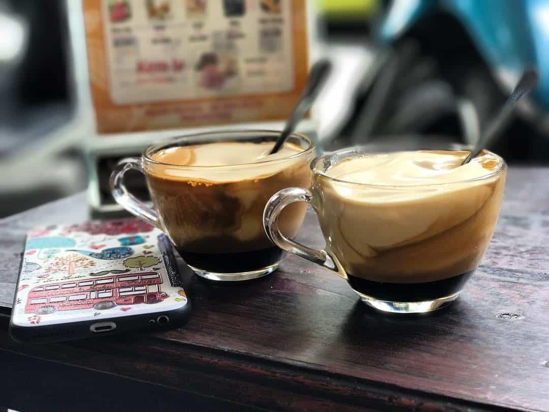 Ca phe trung - egg coffee