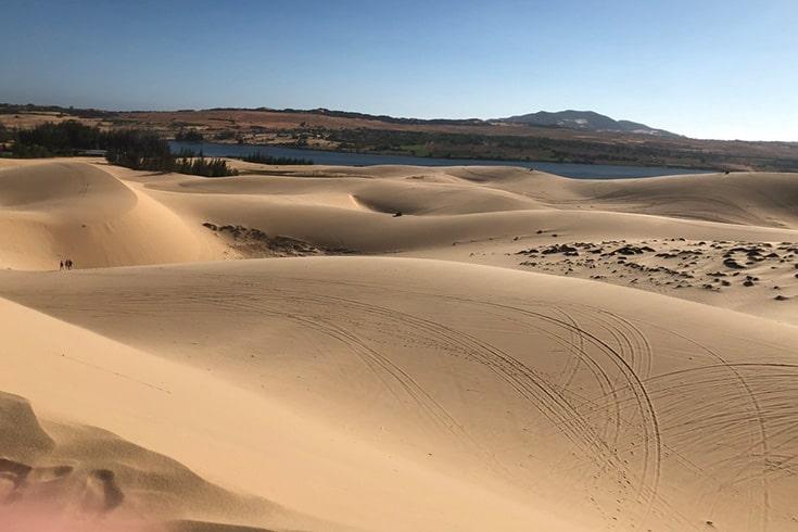 White sand dune in Mui Ne