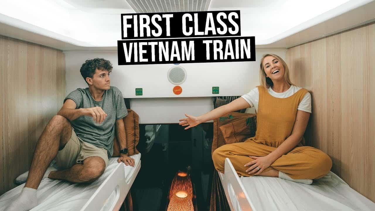 First class Vietnam train
