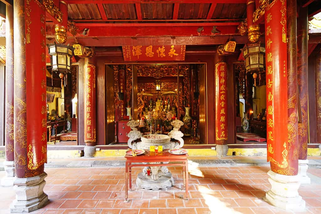 Visit Bach Ma Temple in the second morning during 2 days in Hanoi