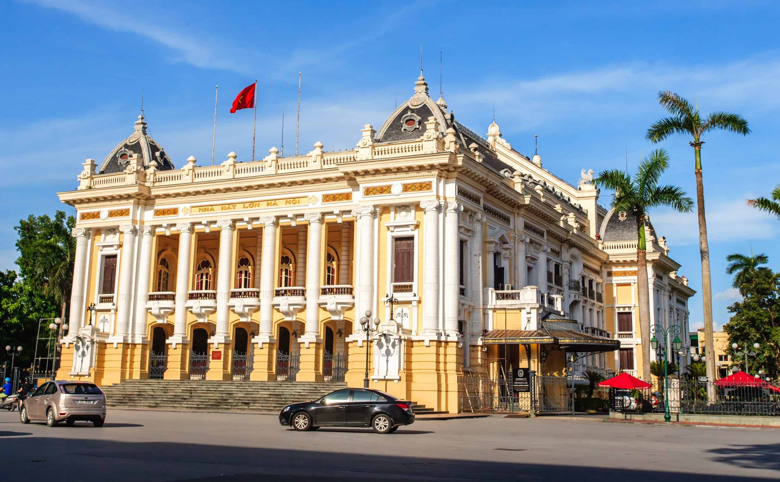 Visit Hanoi Opera House in the first afternoon during 2 days