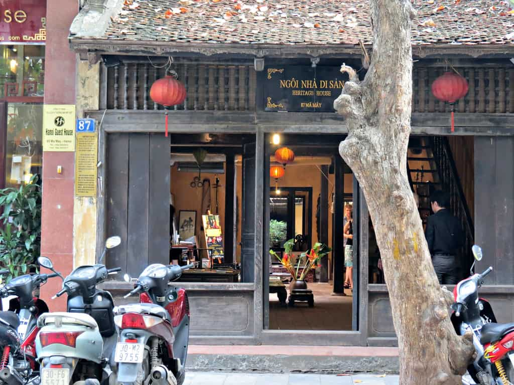 Visit Ma May Heritage House during the second mirning in Hanoi