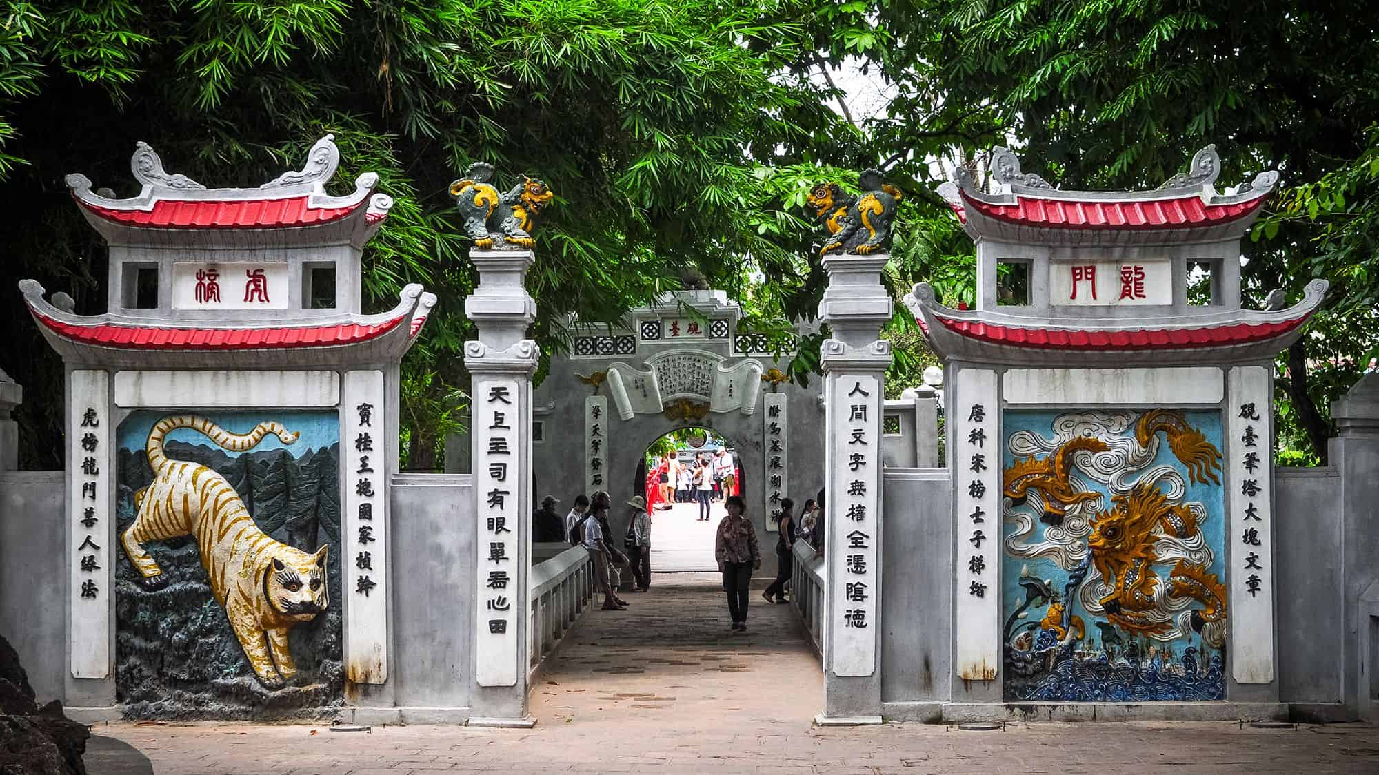 Visit Ngoc Son temple in the first morning during 2 days in Hanoi