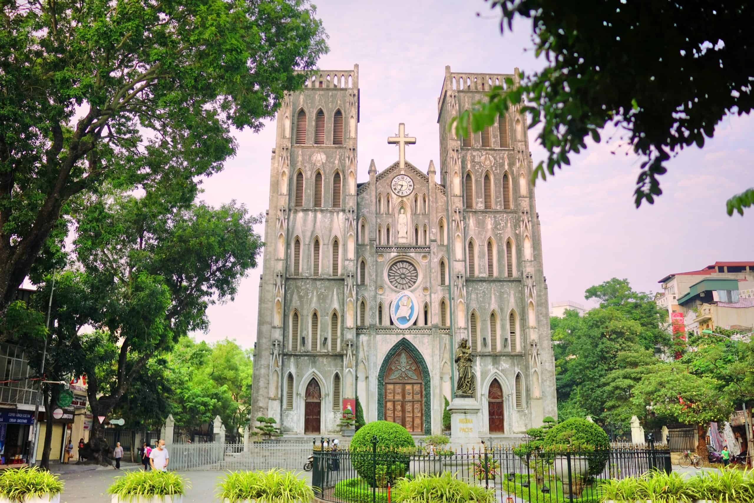 Visit Saint Joseph Cathedral in the first afternoon in Hanoi
