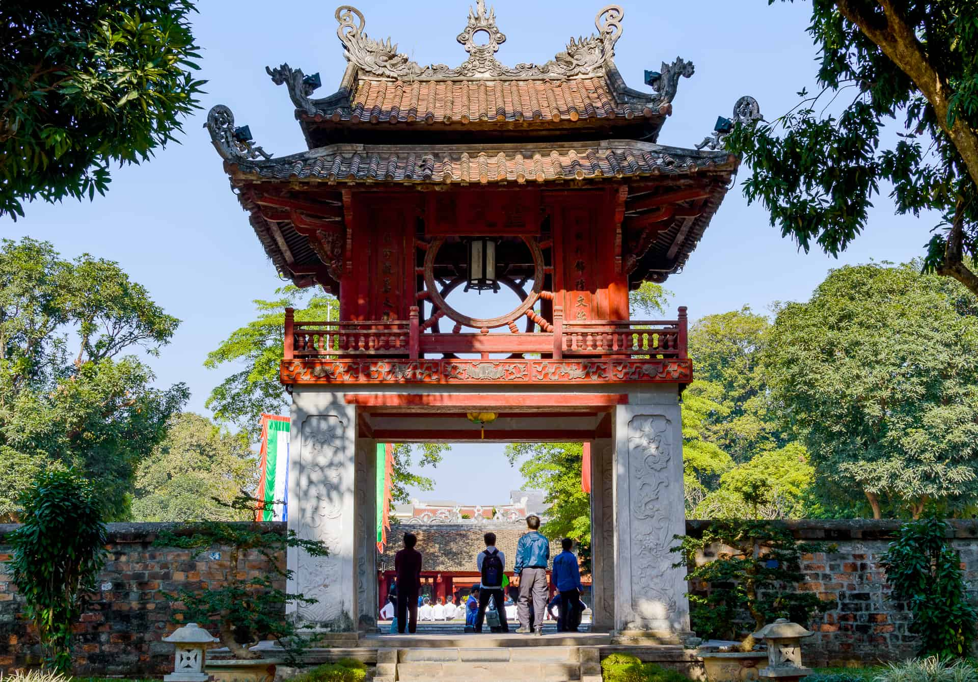 Visit Temple of Literature in t he second afternoon during 2 days in Hanoi