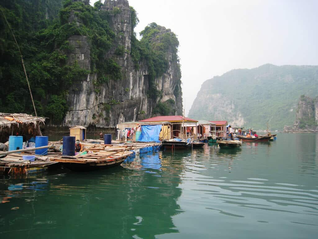 Vung Vieng Floating Village in Halong