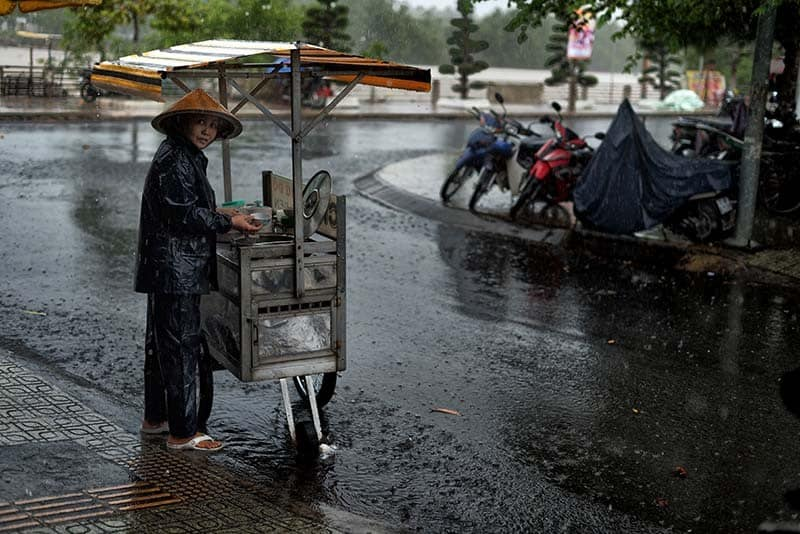 Wet season in Da Nang