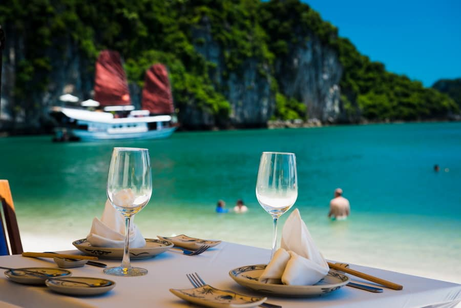 What to do in Halong in January - Swimming