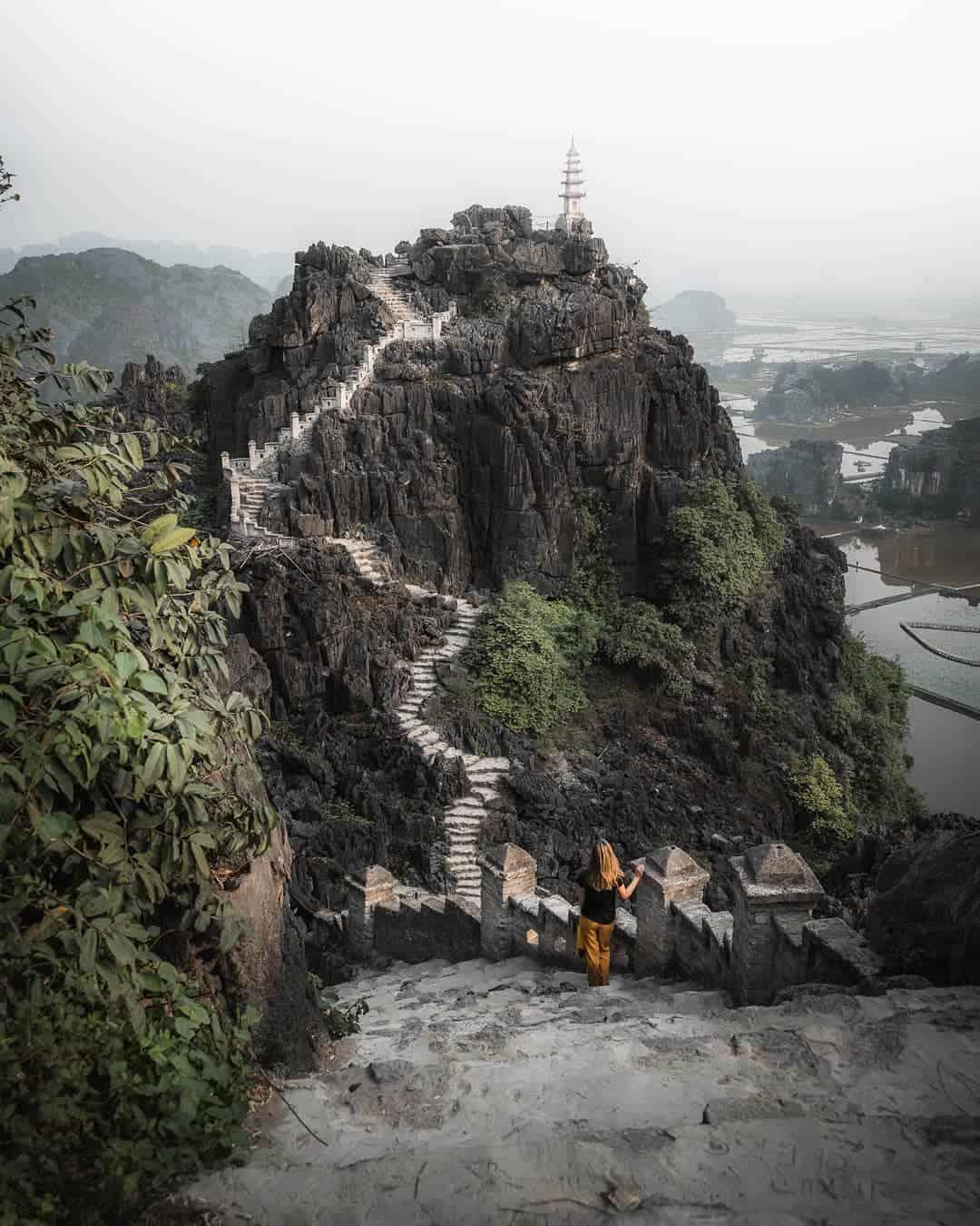 Conquer the top of Hang Mua cave
