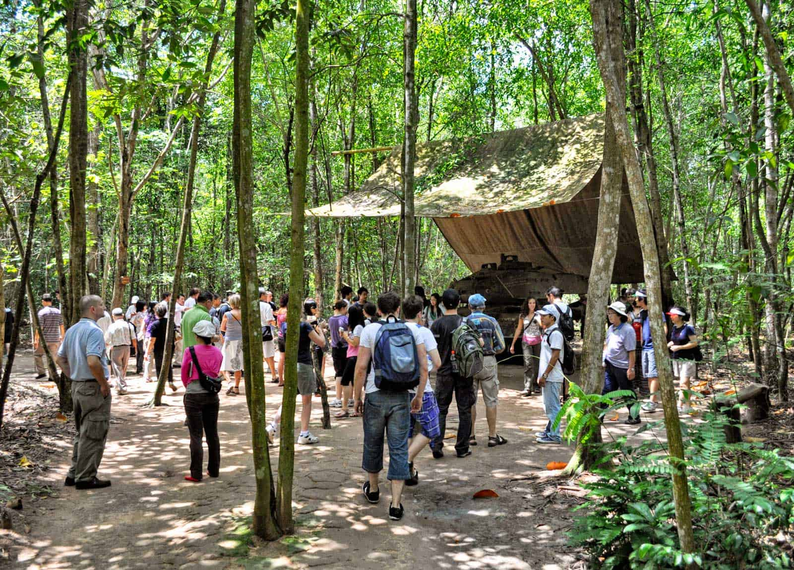 Crawl through the Cu Chi Tunnels