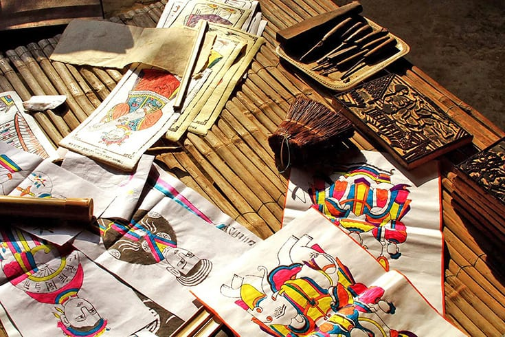 Sinh Folk Paintings - what to buy in Hue