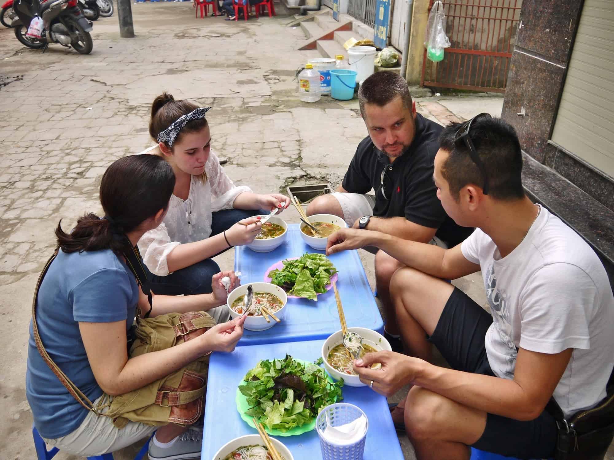 Local Street Food Gastronomy in Hanoi