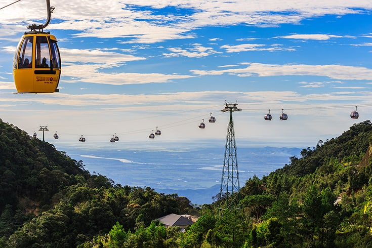 Cable car in Ba Na hills - Ba Na-Nui Chua Nature Reserve