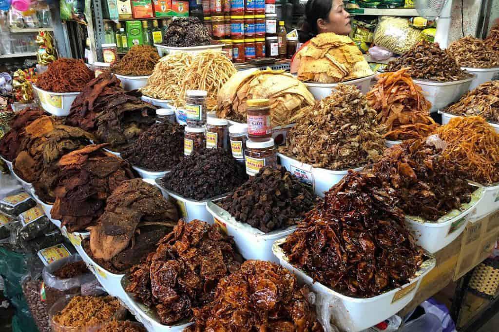 Dry Food Zone in Con market - Danang