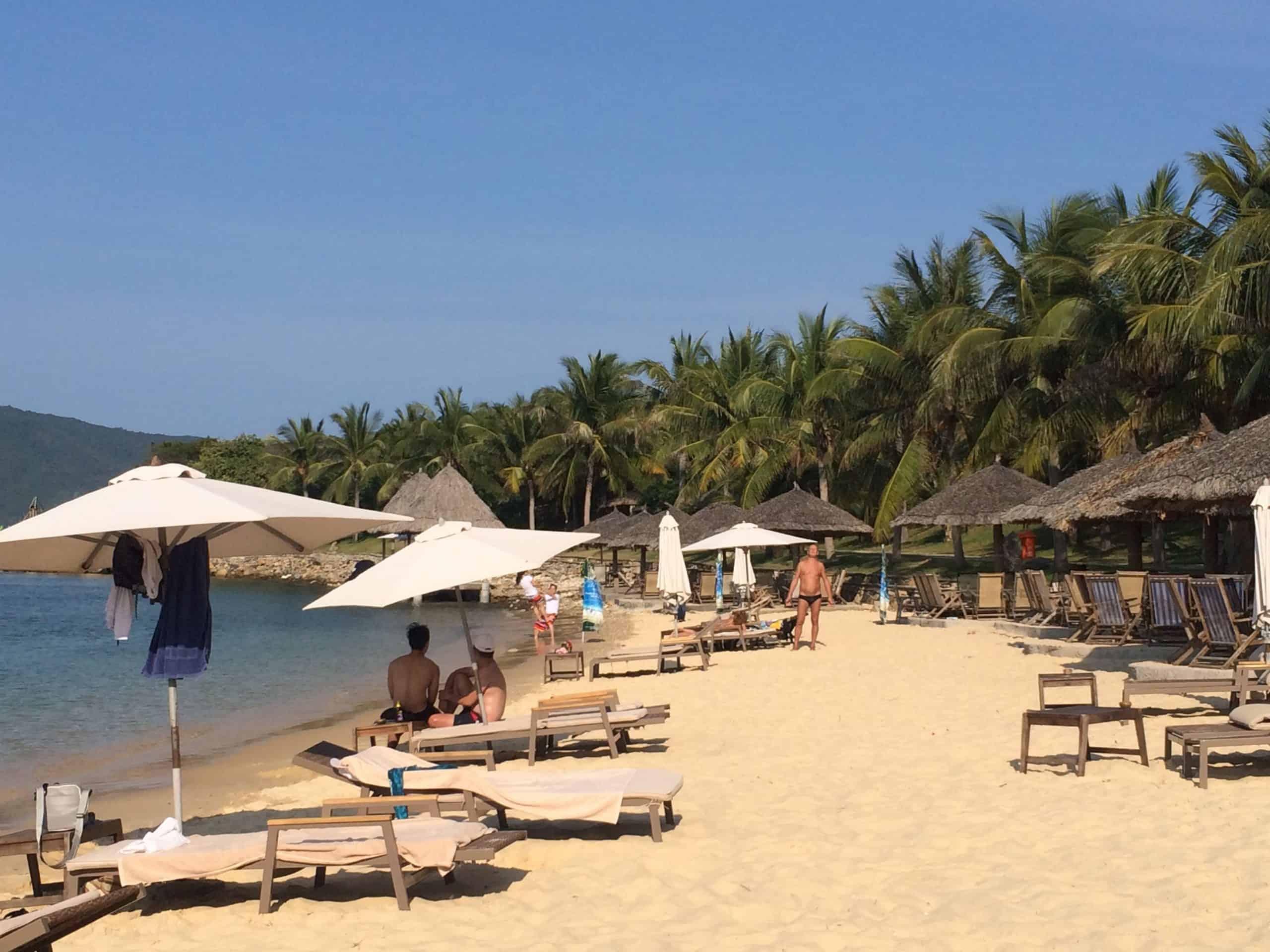 Relaxing at Hon Tam island