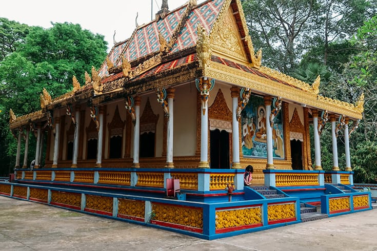 architecture of Doi pagoda in Mekong