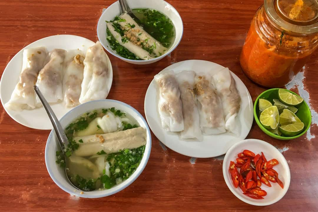 Cao Bang Steamed Rice Pancake - What to eat in Ban Gioc waterfall