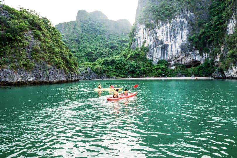 Halong & Lan Ha Bay, Cat Ba National Park with Kayaking and Swimming in Tranquil Lagoon