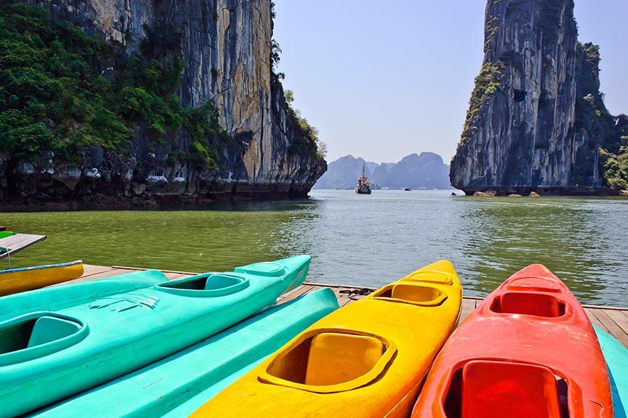 Hot Areas for Halong Bay Kayaking
