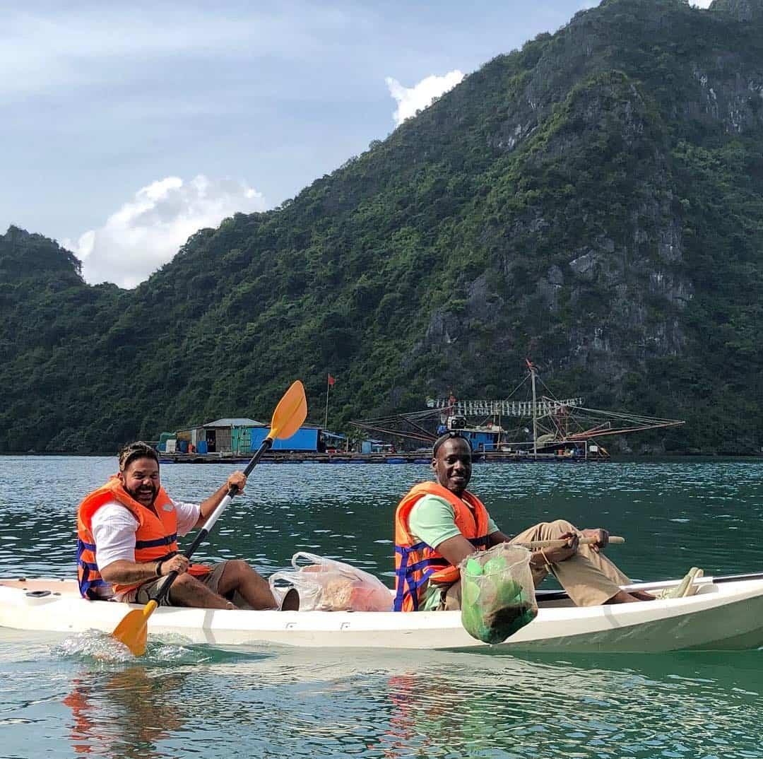 Kayak near Cua Van floating village