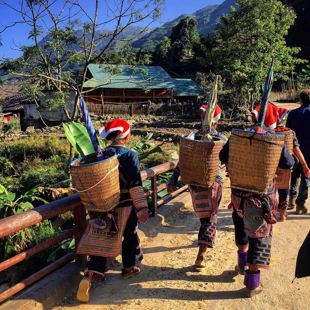 Locals in Ban Ho Village