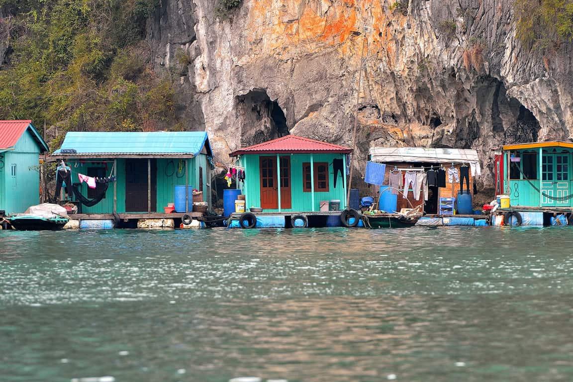Overview of Cua Van Floating village