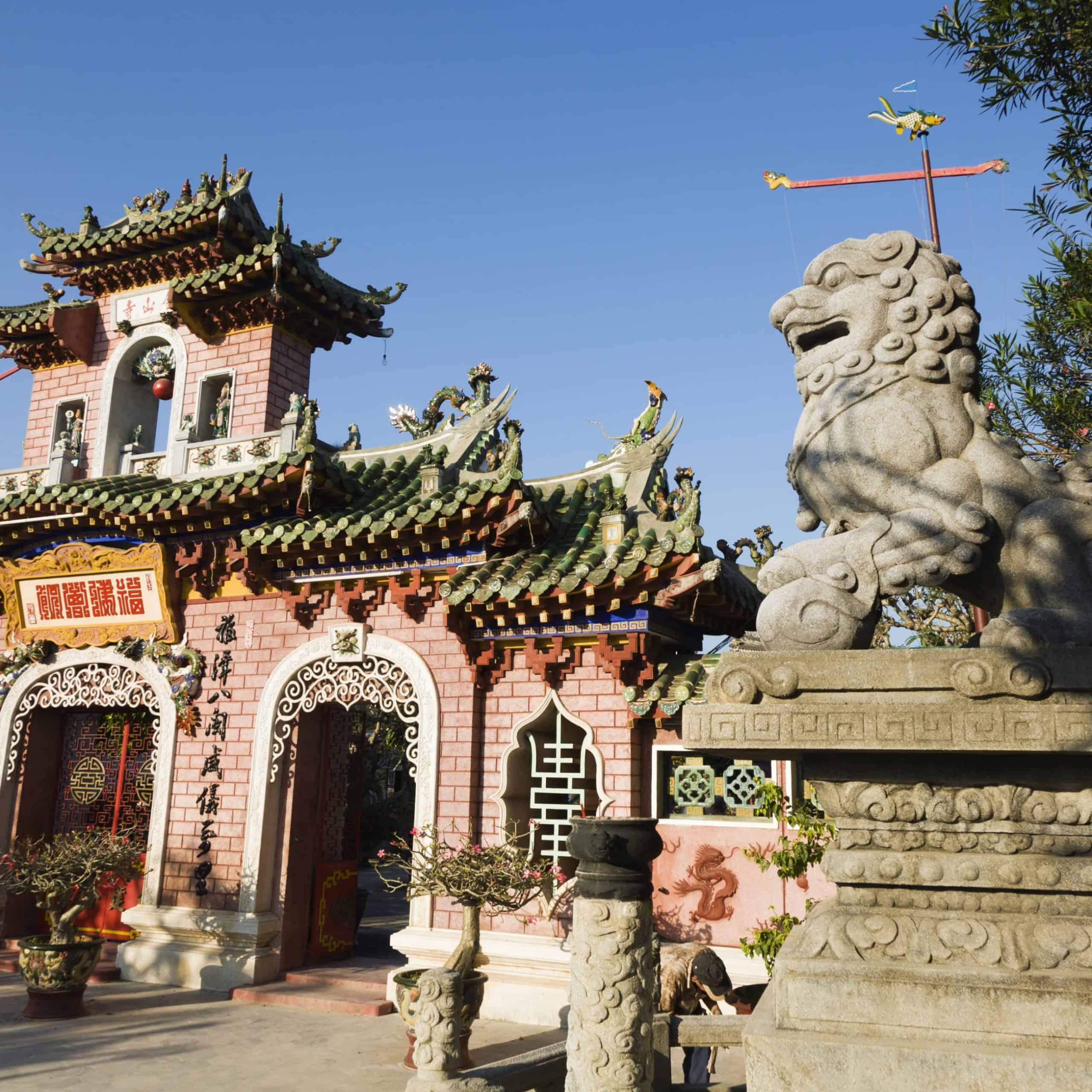 outside the pagoda