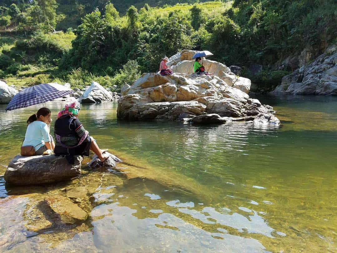 stream in Ban Ho Village