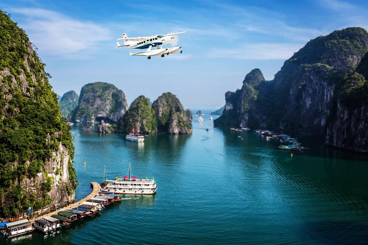 Discover Halong Bay on Paradise Elegance Cruise with Adventurous Seaplane Service