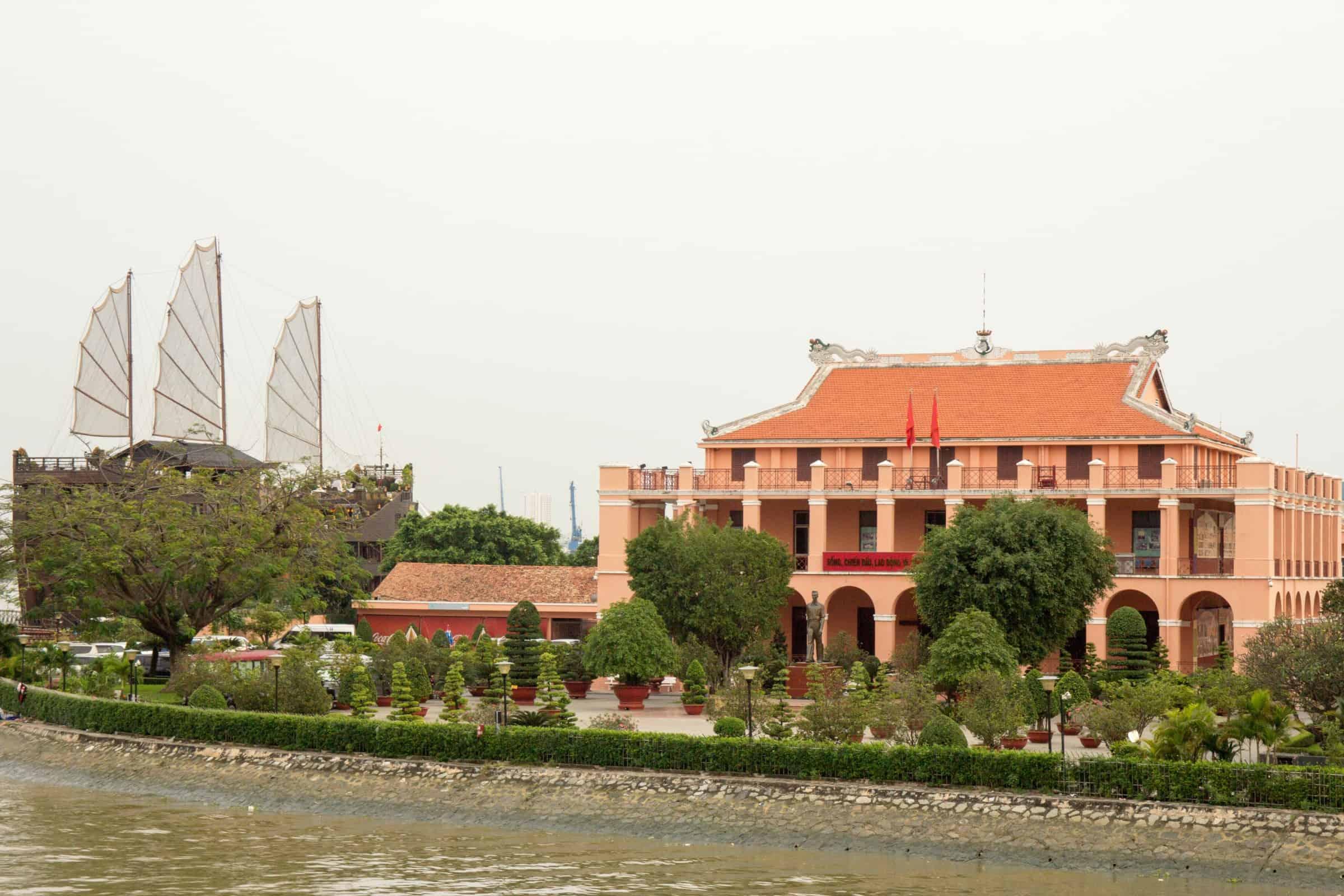 Ho Chi Minh museum near Saigon River