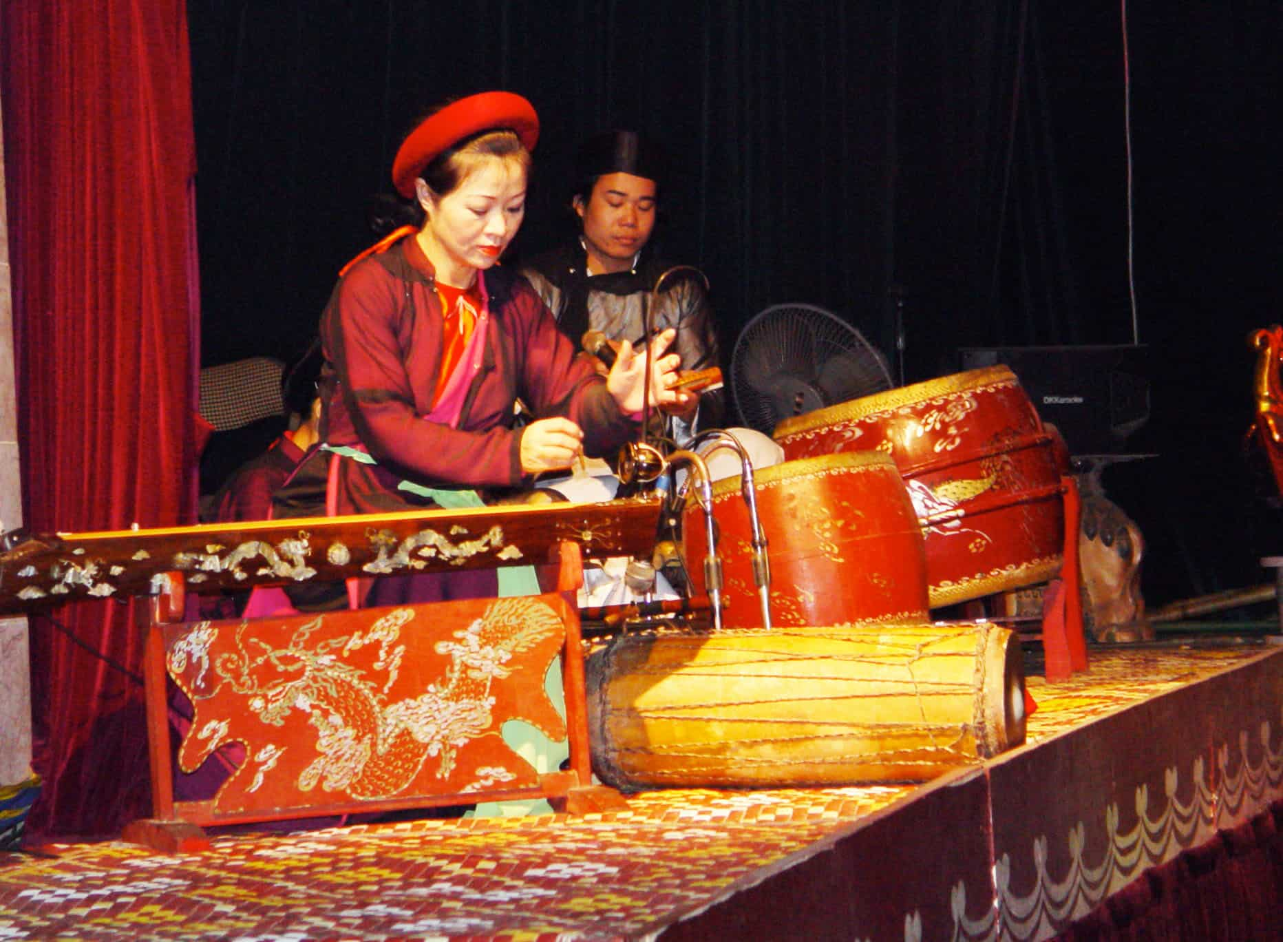 Musicians in Thang Long water puppet show