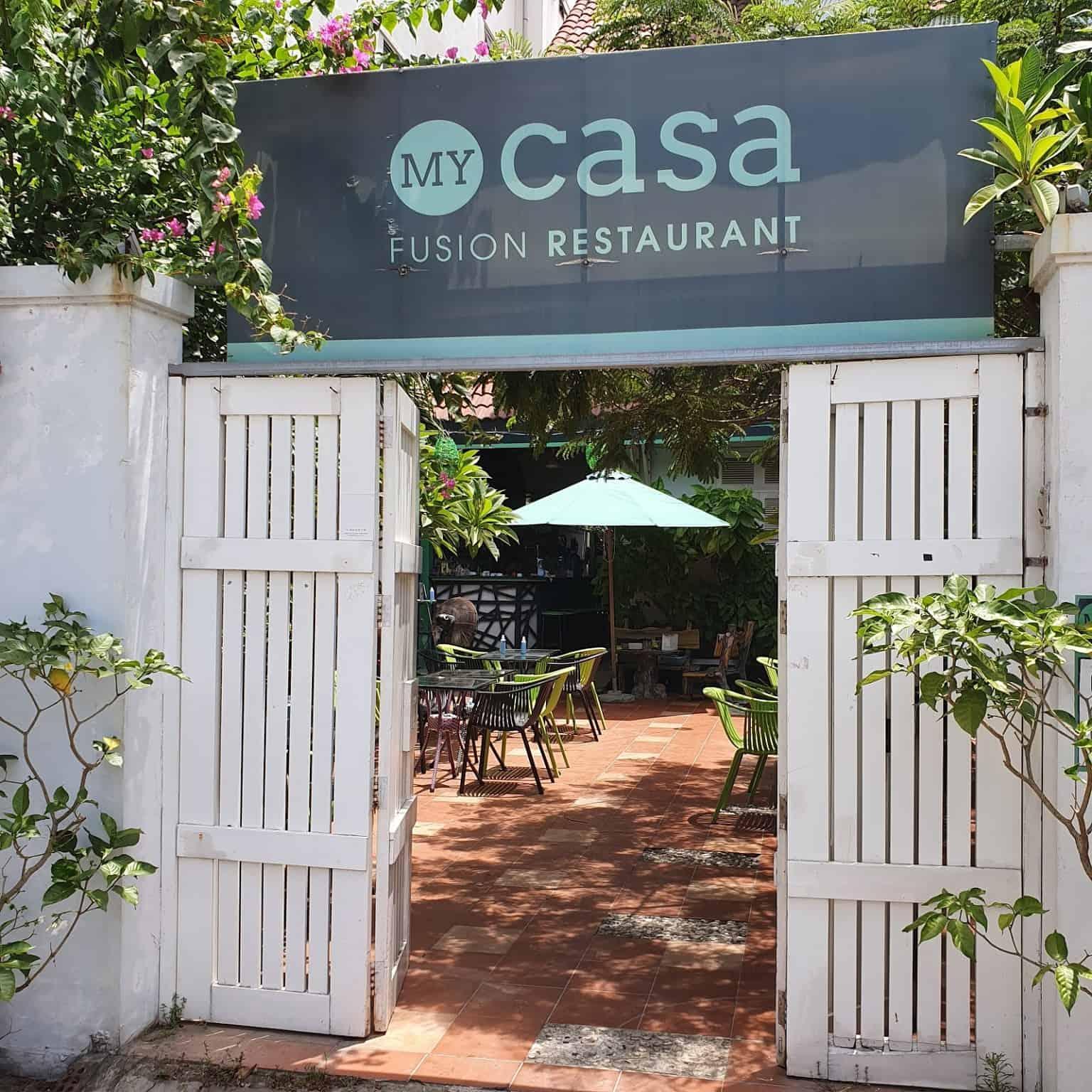 Outside My Casa restaurant in danang