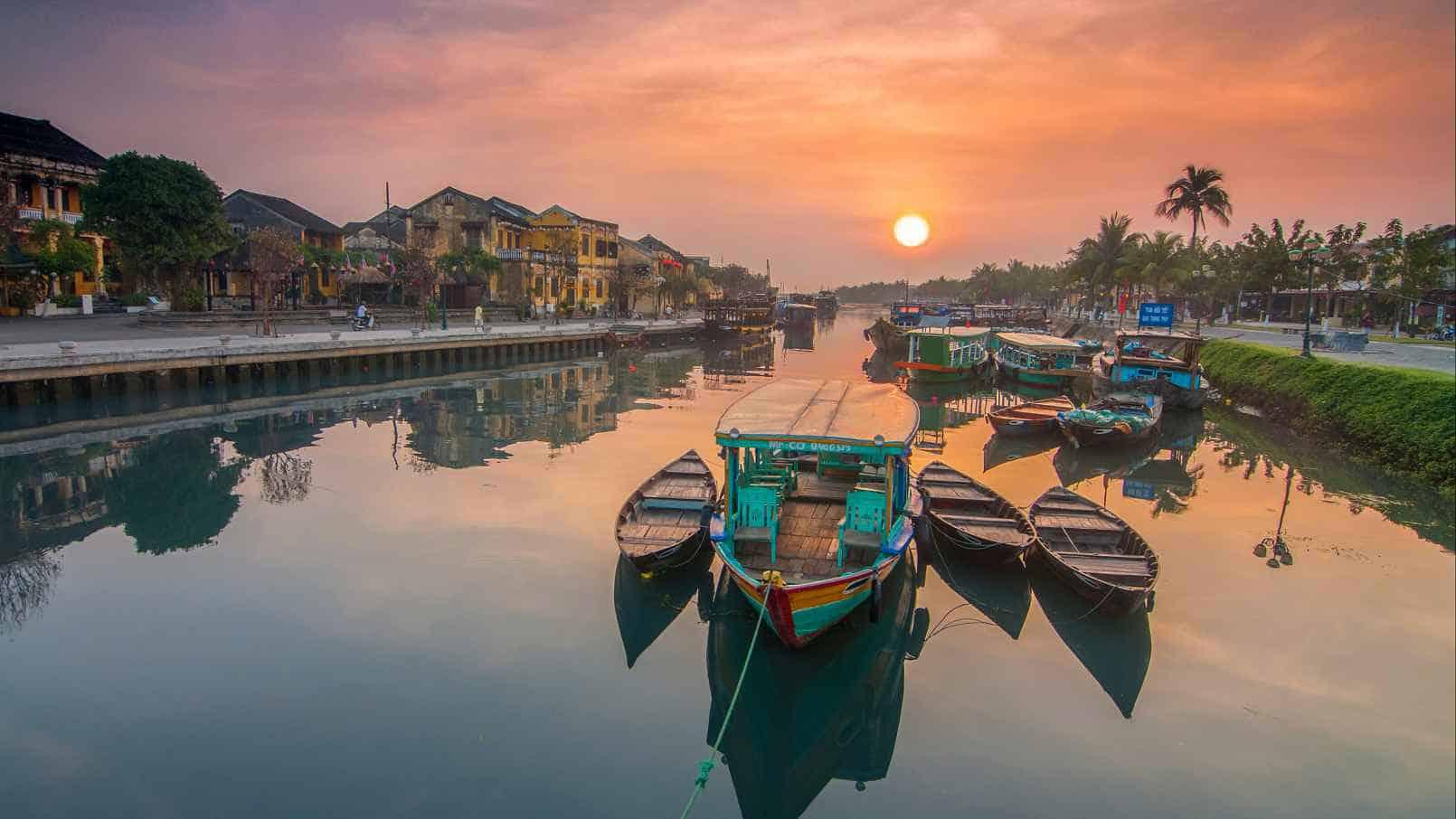 Thu Bon River Sunset