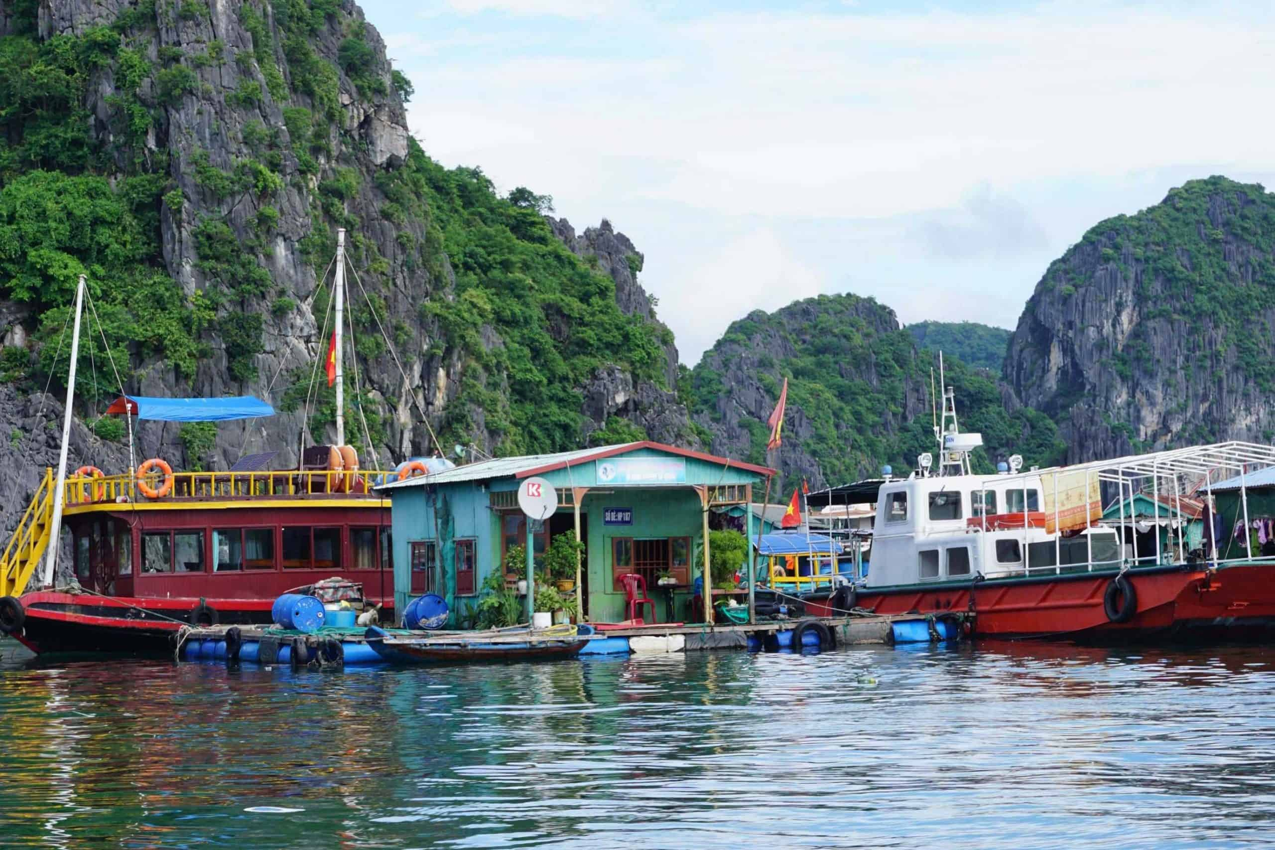 Visit floating villages - Things to do in Halong bay in December