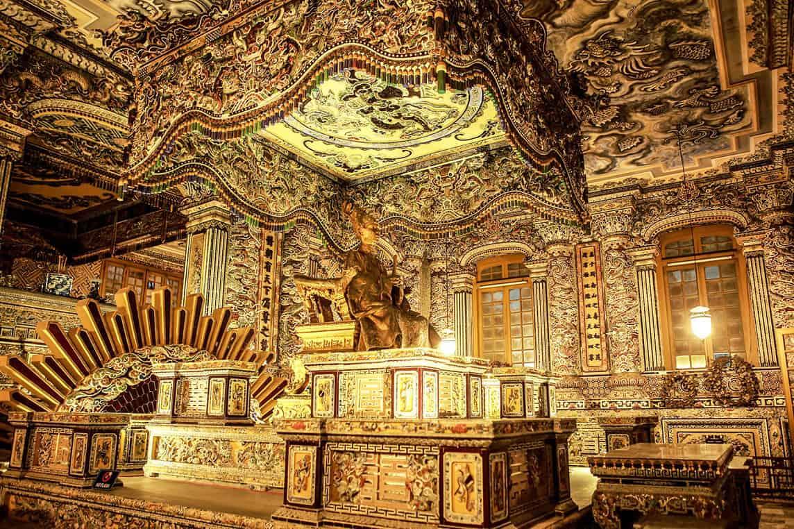 Inside Khai Dinh tomb 2