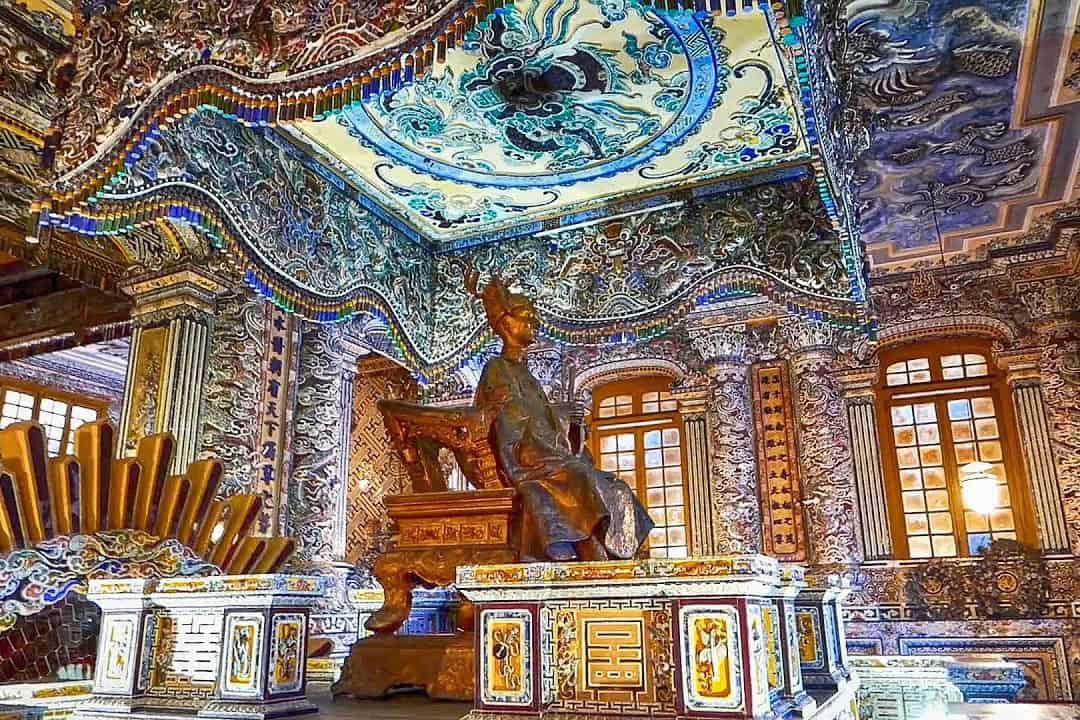 Inside Khai Dinh tomb