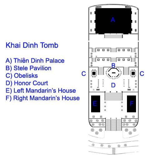 Khai dinh tomb plan