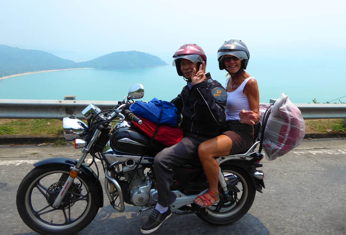 Travel from Hue to Hoi An by motorbike (