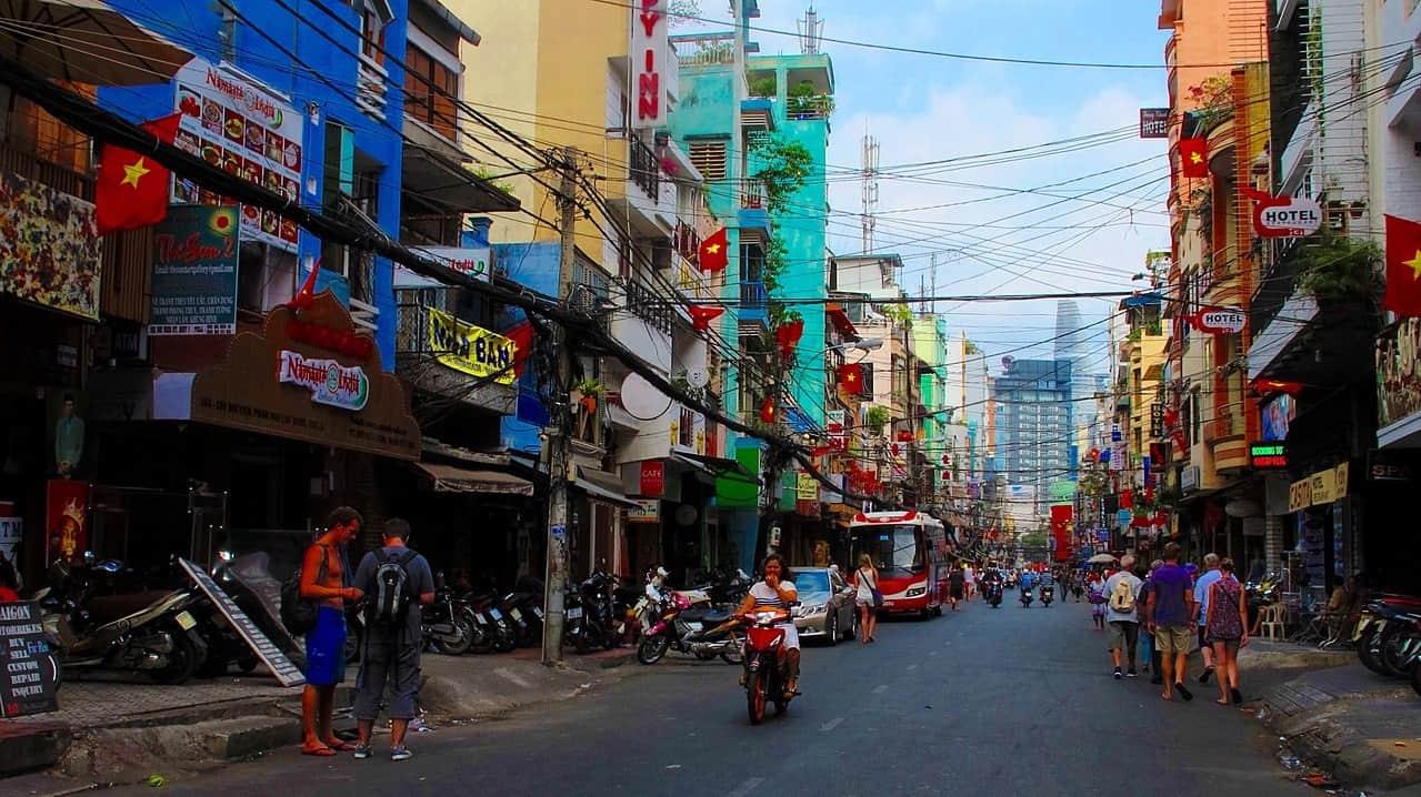 Bui Vien street in daytime