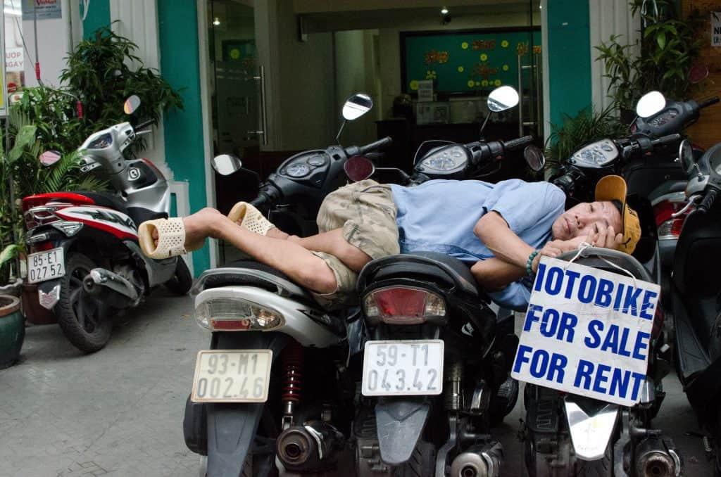 Cost for Motorbike rental in Vietnam