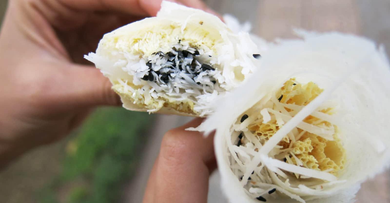 Bo bia ngot - best dishes in Mekong Delta