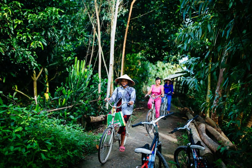 Getting around Mekong Delta by bicycle