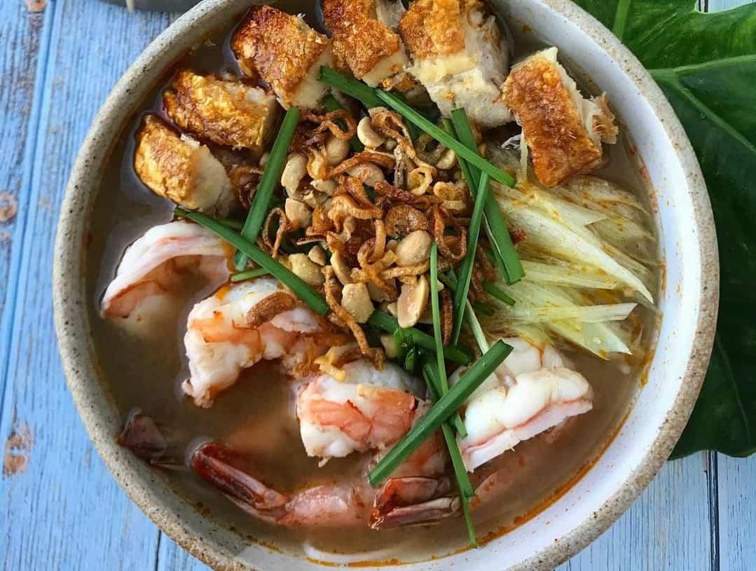 Bun goi da - best dishes in Mekong Delta